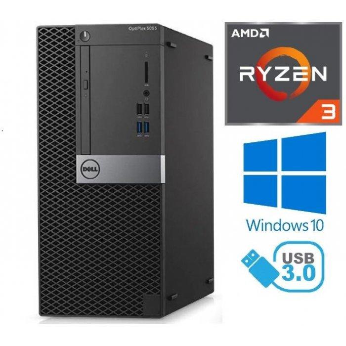 Dell Optiplex 5055 Tower - AMD Ryzen 3 3.50GHz, 8GB RAM, 1000GB HDD, Windows 10