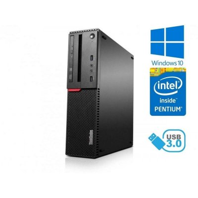 Lenovo ThinkCentre M700 - Pentium G4400/3.30GHz 4GB RAM, 500GB HDD, DVD-RW, W10