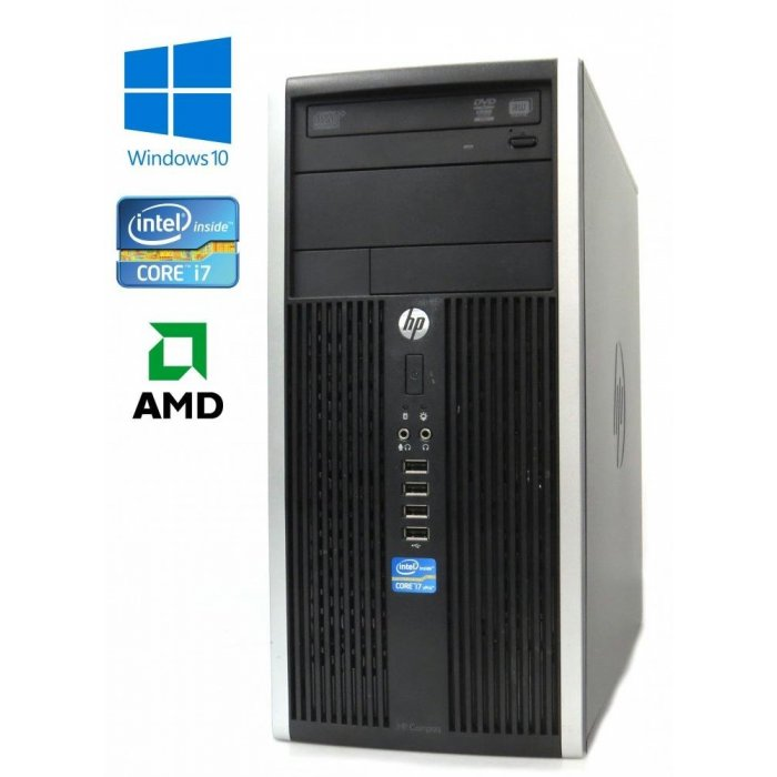 HP Compaq Elite 8200 MT, Intel i7-2600/3.40GHz, 8GB, 500GB HDD, AMD Radeon HD 6570 1GB, Windows 10