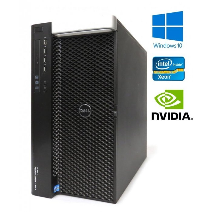 Dell Precision T7610 16-Core 2x E5-2687 V2 128GB RAM 500GB SSD + 1,8TB, K5000 W10P