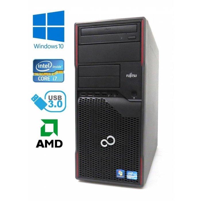 Fujitsu Esprimo P900 - Intel i7-2600/3.40GHz, 8GB RAM, 120GB SSD, AMD HD5450, Windows 10