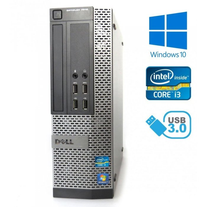 Dell Optiplex 7010 SFF - Intel i3-3240, 8GB, 120GB SSD, W10P