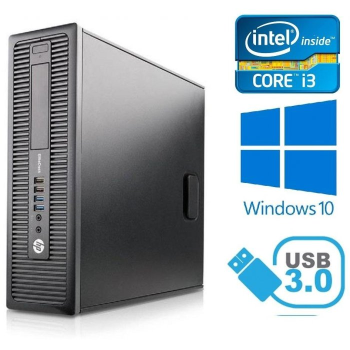 HP ProDesk 600 G1 SFF - Intel i3-4130/3.40GHz , 8GB RAM, 500GB, Windows 10
