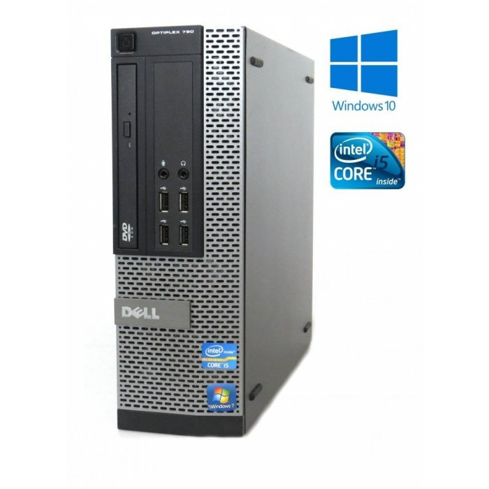 Dell OptiPlex 790 -SFF- Intel i5-2400, 4GB RAM, 256GB SSD, DVD-ROM, W10