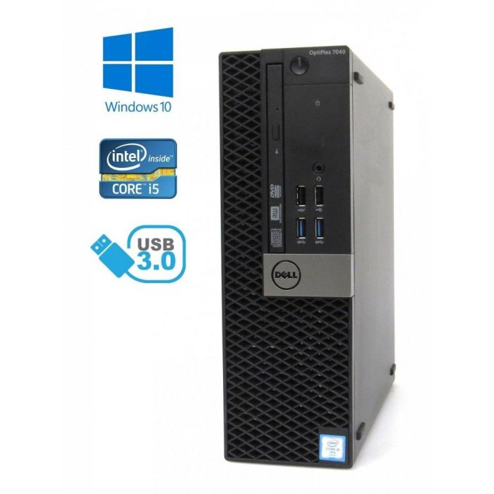 Dell Optiplex 7040 SFF - Intel i5-6500/3.20GHz, 8GB RAM, 128GB SSD, Windows 10