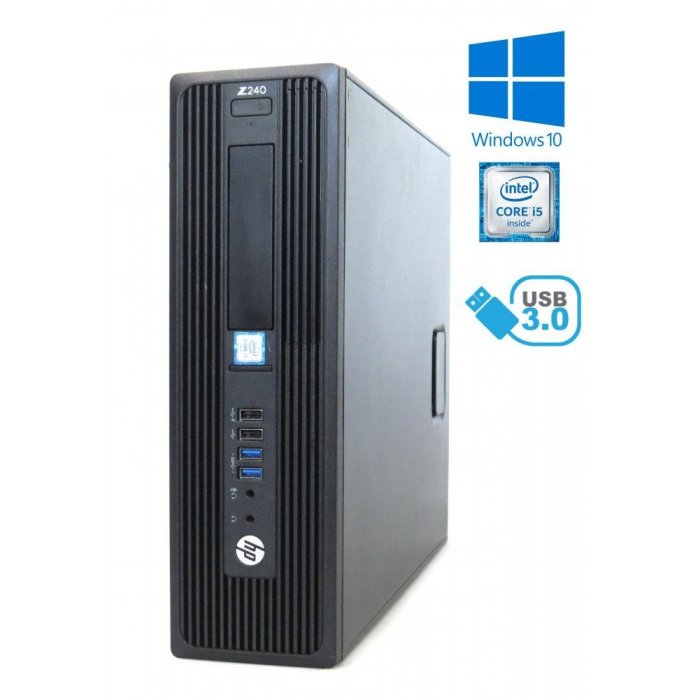 HP Z240 SFF - i5-6600, 16GB RAM, 480GB SSD, DVD-RW, Windows 10