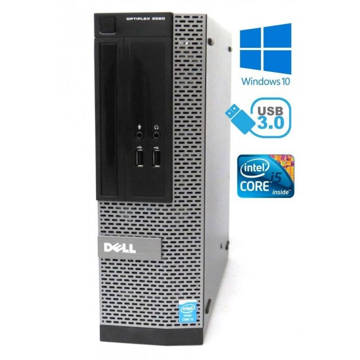 Dell Optiplex 3020 - Intel i5 4460 3,20GHz, 16GB, 240GB SSD DVD-ROM, W10P