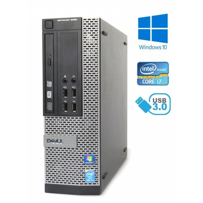 Dell Optiplex 9020 SFF - i7-4790/3.60GHz, 8GB RAM, 512GB SSD, Windows 10