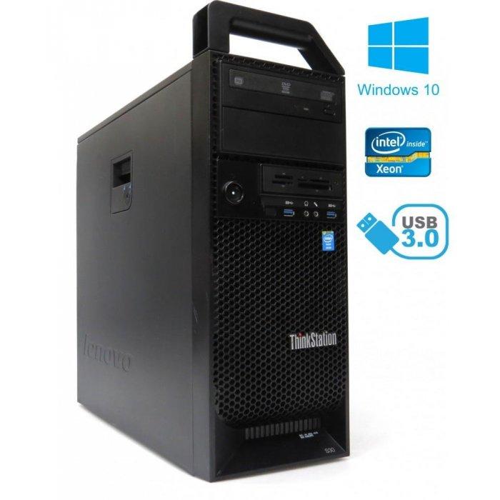 Lenovo ThinkStation S30 - Xeon Quad E5-1620 v2, 8GB, 180GB SDD + 500 GB, Quadro K2000, W10