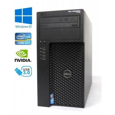 Dell Precision T1700 MT - Intel i7-4790/3.40GHz, 16GB RAM, 512GB SSD + 500GB HDD, NVIDIA K2200, Windows 10